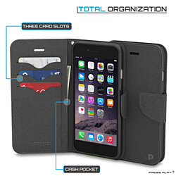 PocketFolio Premium Ultra-Slim Wallet Case for iPhone 5/5s & iPhone 6/6s With Card Slots and Cash Pocket 9 (5 Colors) by PRESS PLAY