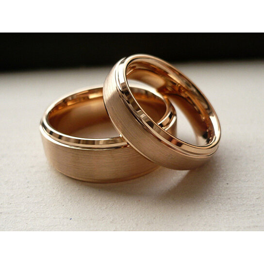 Gold Plated Wedding Rings: Buy Tungsten Wedding Band,Wedding Band ,Rose Gold Plated