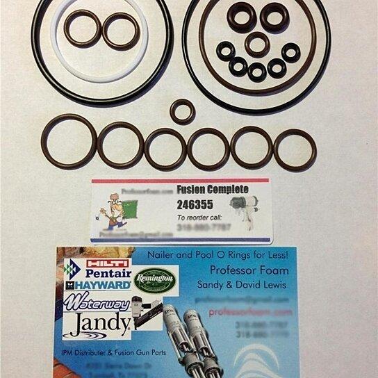 Buy 20 kits 246355 O-ring Rebuild Kit fits Graco Fusion Gun Air ...