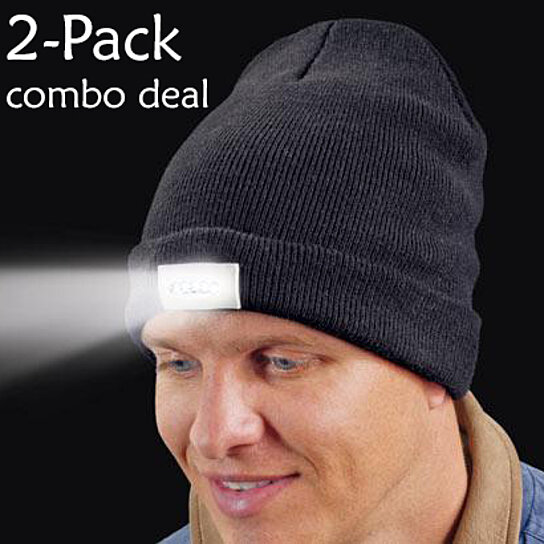 Buy 2-Pack  Men Women Warm Beanie with LED Flashlight by Pro Lighting Inc.  on OpenSky 5d259284a7a6