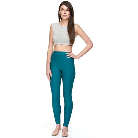 Buy SLIM Teal Moisturizing Compression Leggings by ...