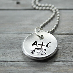 Tree Stump Initial Necklace