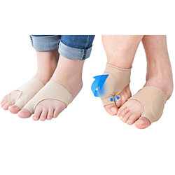 New Fabric Gel Toe Bunion Pad Protector Sleeves  Corrector