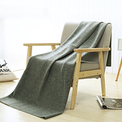 PuTian Home 100% Merino Wool Blanket