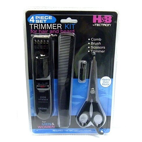 buy beard trimmers kit for men 4 piece beard grooming kit beard care products kit includes. Black Bedroom Furniture Sets. Home Design Ideas