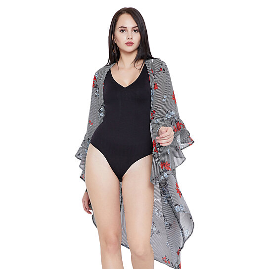 2703ac65e40bb Buy Black Beach Cover-up for Women Swimsuit Floral Summer Bikini Cover-Ups  for Women Plus Size Bathing Suit Online by oussum.com on OpenSky