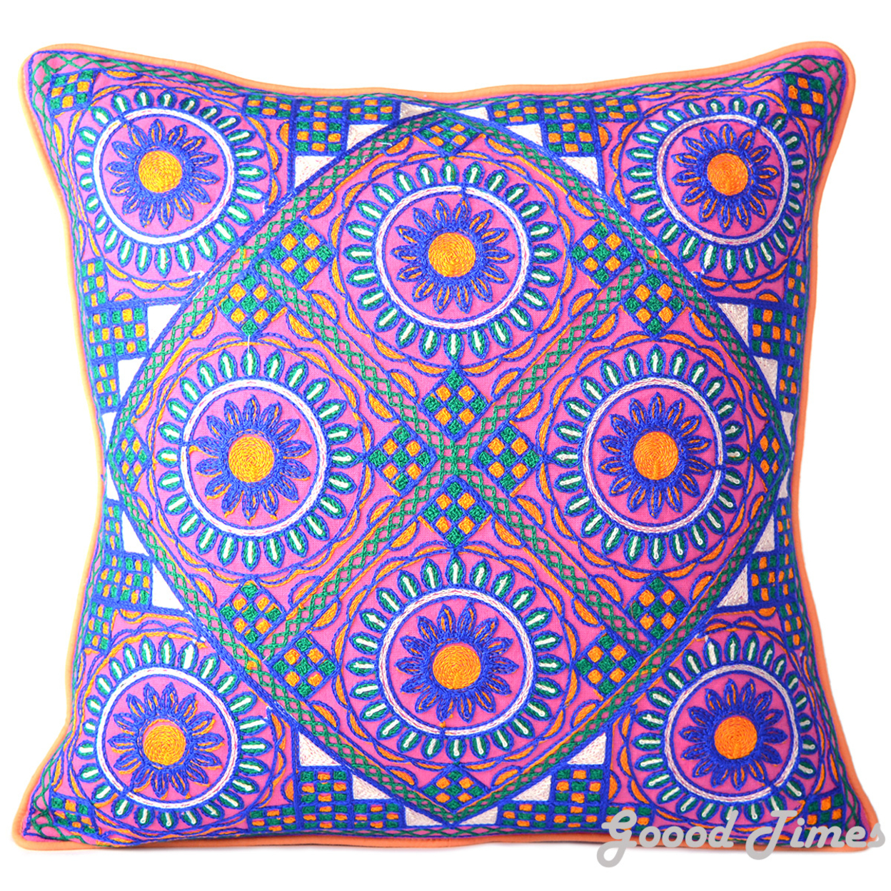 Cotton Pink Throw Pillow Case Cushion Cover Home Sofa Decorative 16 X 16 Inch