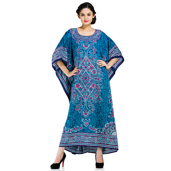 53a4db05cd8 Buy Women Trendy Style Long Floral Print Boho kaftan Gown Plus-Size Dress  by oussum.com on OpenSky