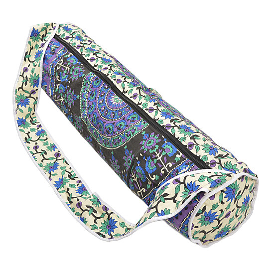 eb584a9fd830 Buy 100% Cotton Artisan-Crafted Mandala Yoga Mat Carrying Bag with Pocket  by oussum.com on OpenSky