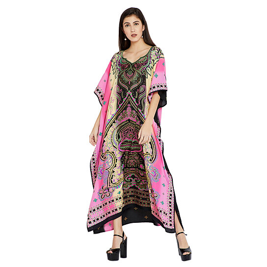 Buy Multicolor Women Dress Plus Size Kaftan Long Dress For Full