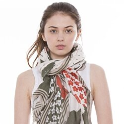 Lightweight Floral Scarf for Women Neck Wrap Winter Fashion Scarves
