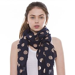 Soft and Lightweight Polka Dot Scarf for Women Neck Wrap Winter Fashion Scarves