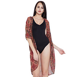 Brown Summer Beach Cover-up for Women Swimsuit Bikini Cover-Ups