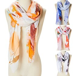 Women Abstract Scarf Viscose Fashion Scarves Head Neck Wrap Long Shawl for Women Girls Scarf