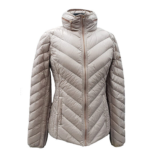 f6b3a3e85 Michael Kors Women's Nylon Packable Quilted Hooded Down Jacket Puffer  Winter Coat