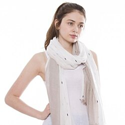 Soft and Lightweight Polyester Ikat Pattern Scarf for Women Shawl Wrap Winter Fashion
