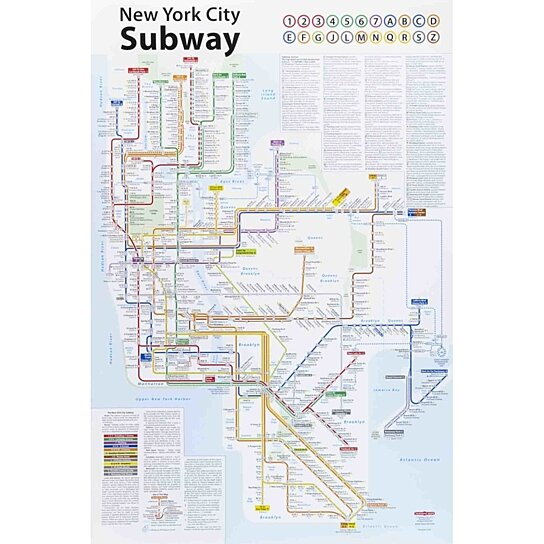 How To Purchase A Good New York City Subway Map.John Tauranac New York City Subway Map 2013