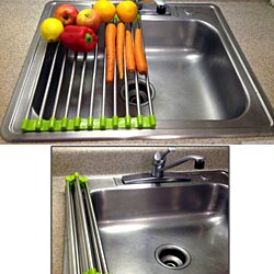 Folding Drain Rack, Washing Station - Stainless Steel - Extra Counter SPACE!
