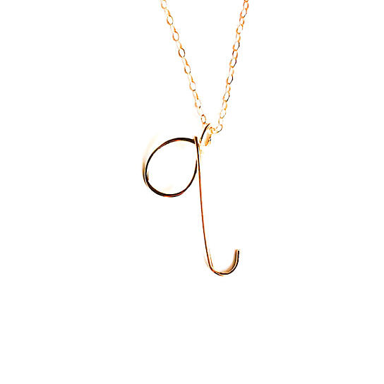 Buy Custom u0026quot;qu0026quot; Initial Necklace, little letter necklace, etsy handmade ...