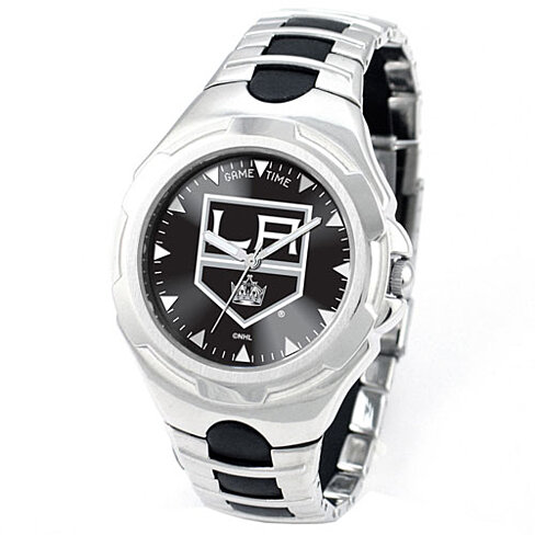 LOS ANGELES KINGS VICTORY GAME TIME LOGO WATCH 47MM SILVER AND BLACK