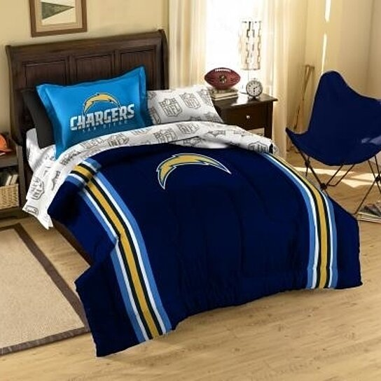 Buy Nfl San Diego Chargers Twin Bed In A Bag Set Contrast