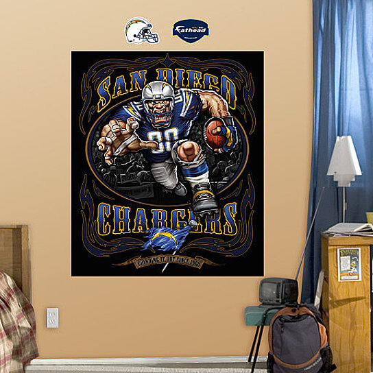 Buy Nfl San Diego Chargers Cartoon Fathead Grinding It Out