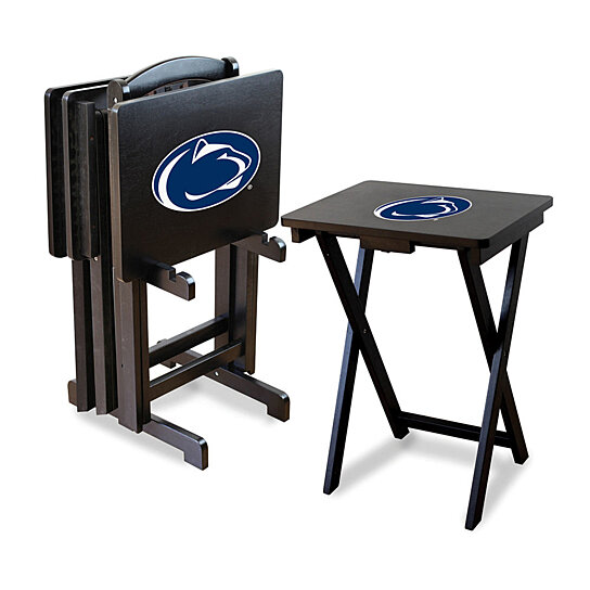 Buy penn state nittany lions ncaa tv tray set with rack by