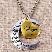 """I Love You To The Moon and Back"" Pendant Necklace"
