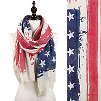 New American Flag Scarf Vintage USA Flags Infinity Scarves Pashmina Shawls Hijab Accessory
