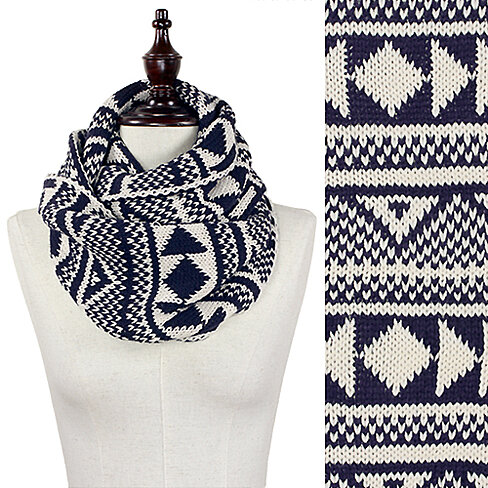 Buy Nordic Knit Infinity Winter Scarf Unisex by RedDame Fashion on OpenSky