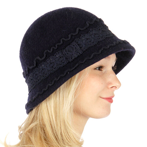 buy womens winter cap crotchet wool hat navy by reddame