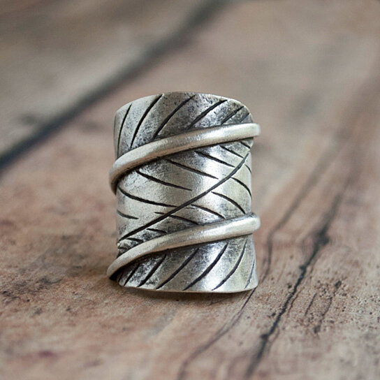 Buy Hill Tribe Leaf Ring By Rockhill Designs On Opensky