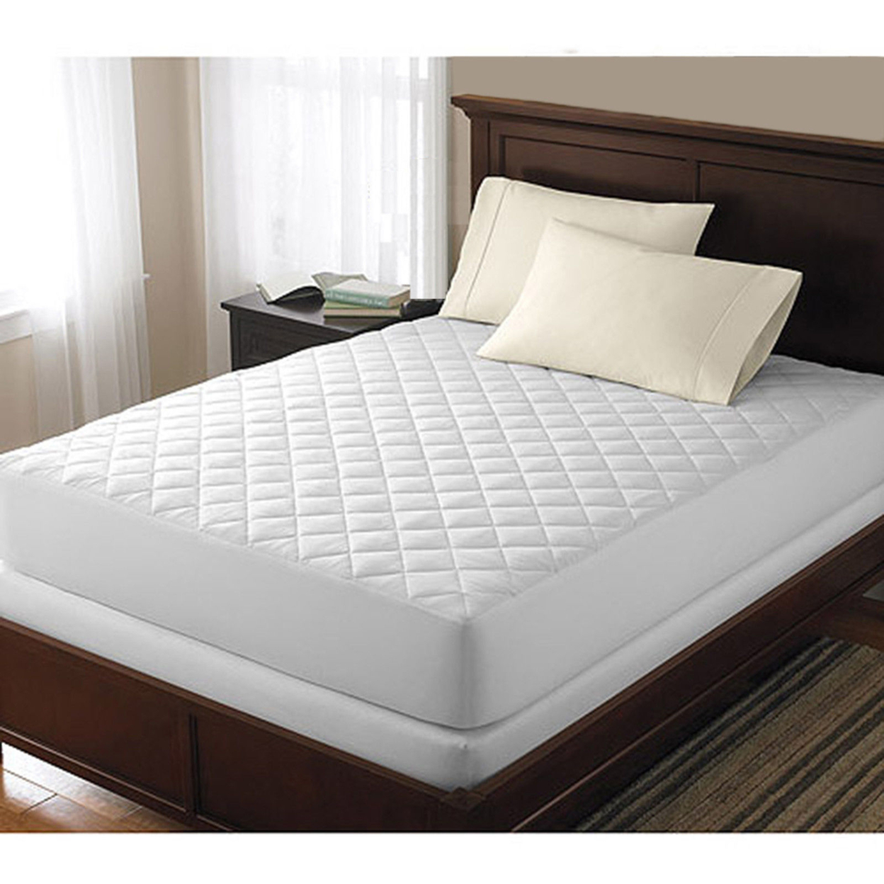 Hypoallergenic Quilted Mattress Pad Twin