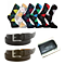 Men's Essentials Refresh Pack: Cool Socks, Fresh Belts + Leather Money Clip