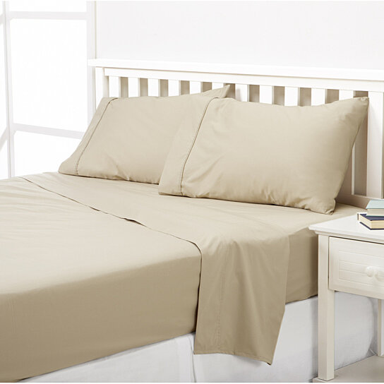 Buy solid sheet set 600 thread count 100 cotton high for High thread count bed sheets