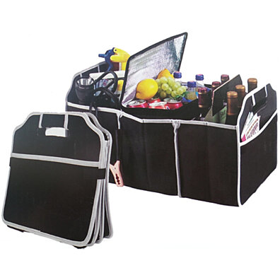 Car Trunk Organizer - 3 Large Sections of Storage