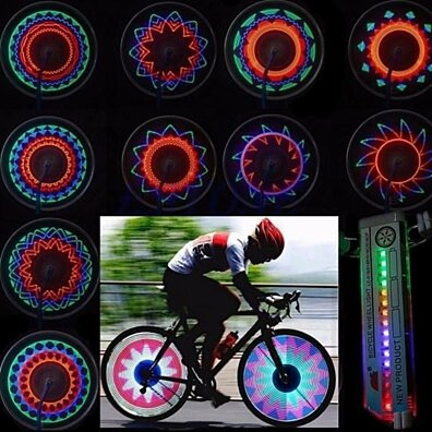 32 Pattern GLOW LED Spoke Lights for Bicycles