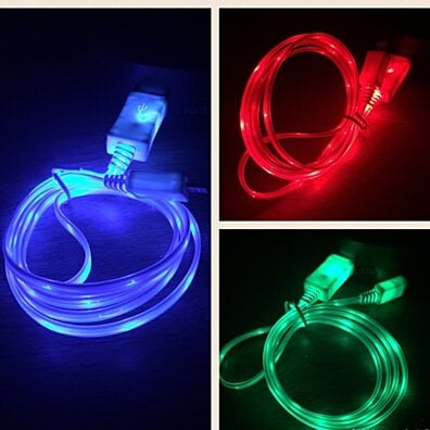 Micro USB GLOW IN THE DARK Charger Cable