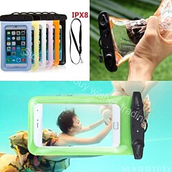 Waterproof Diving Pouch For Mobile Devices With Lanyard/Arm Band