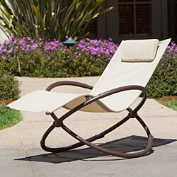 Original Orbital Zero Gravity Lounger in Beige by RST Brands™