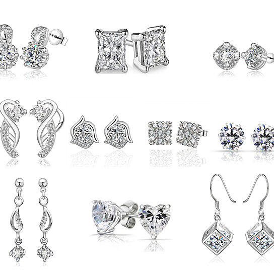 4a9d827c9 Buy 10 Pack Silver Diamond Studs with Free Gift Box by Shine On Jewelry on  Gemafina