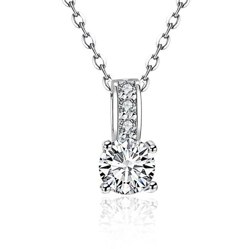 18K White Gold Drop Necklace with Swarovski Elements