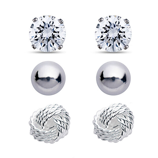 5b5c5f2e5 Buy 3 Pairs of Silver Earrings by Shine On Jewelry on Gemafina