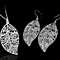 Filigree Leaf Necklace Earrings Set