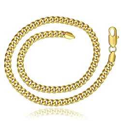 Gold Plated Mid Sized Intertwined Chain Necklace