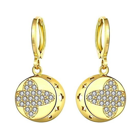 2bed9965f Buy Gold Plated Mini Cross Circular Drops by Shine On Jewelry on Gemafina