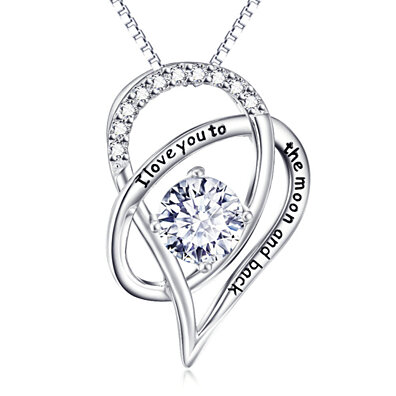 f65a83103 Mother's Day I Love You To The Moon & Back Swarovski Elements Pendant  Necklace