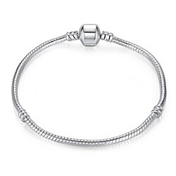 The Original Plain Silver Pandora Inspired Bracelet