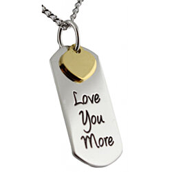 Love You More Pendant Stainless Steel Necklace