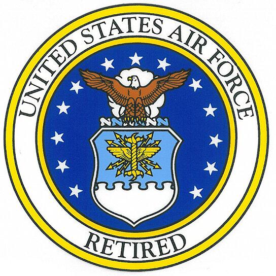 Buy Air Force Retired Usaf Seal Car Decal Rush